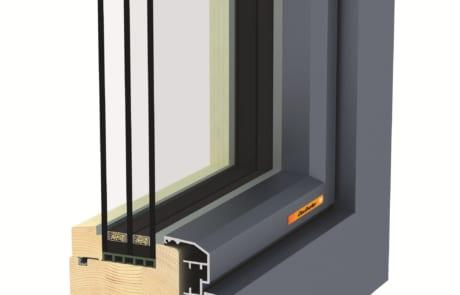 Fusionline 94 Soft Wood Aluminium
